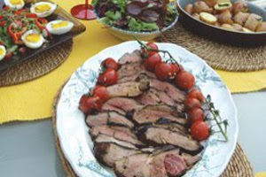 Barbecued Maple Syrup Lamb