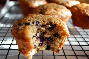 Browned Butter Blueberry Maple Muffins