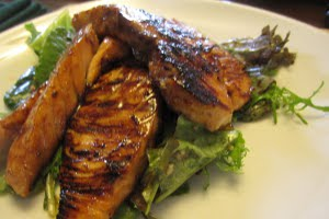 Maple Glazed Quick Grilled Salmon Fillets