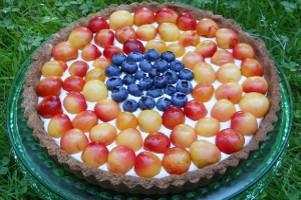 Rainier Cherry Tart with Maple Cream and Maple Crust