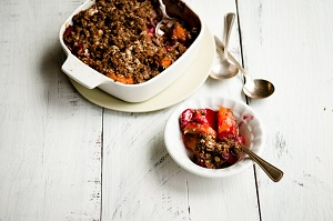 Apricot Plum Crisp with Maple Nut Froyo