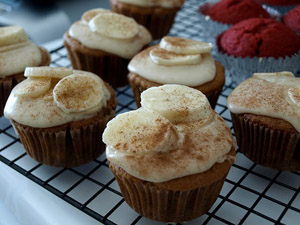 Banana Cupcakes with Maple Brown Butter Frosting