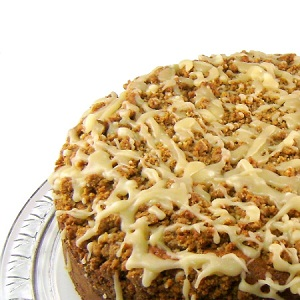 Maple Sour Cream Coffee Cake with Walnut Streusel and Maple Glaze
