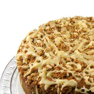 Maple Sour Cream Coffee Cake with Walnut Streusel and Maple Glaze