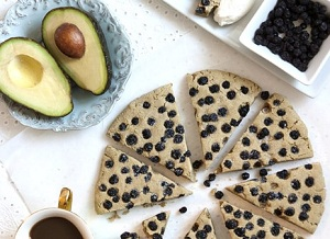 Vegan and Gluten Free Avocado Scones