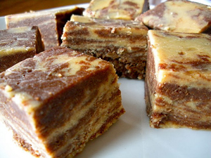 Vegan Peanut Butter Chocolate Marble Fudge